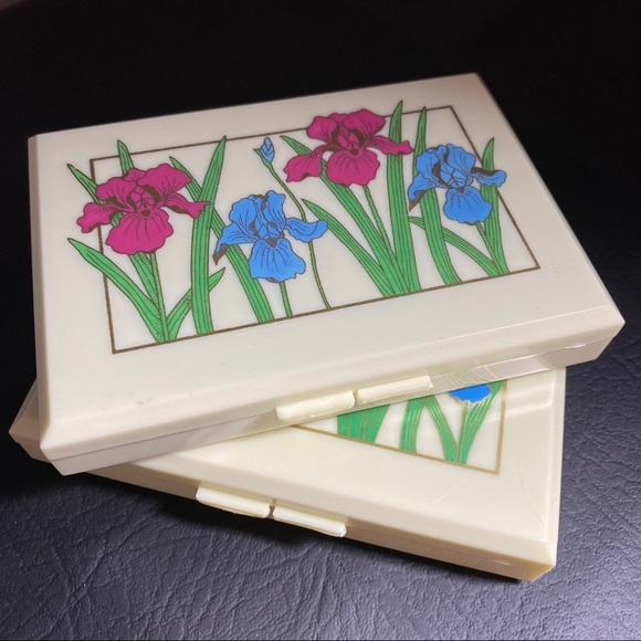 Vintage Jewelry and Tissue Box Set Floral Design